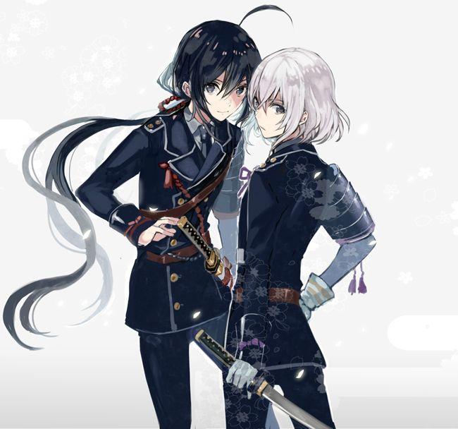 Namazuo Toushirou and Honebami Toushirou (from game - Touken Ranbu)