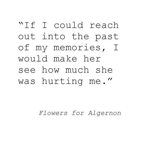 a literary analysis of the flowers for algernon Literary terms flowers for algernon 2 support that flowers for algernon is a loss-of-innocence novel by referring to incidents in the text 3.