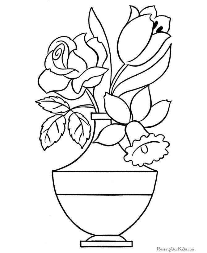 Flower Page Printable Coloring Sheets Flowers Coloring Sheet 034 Coloringsheets Flower Coloring Sheets Flower Coloring Pages Printable Flower Coloring Pages