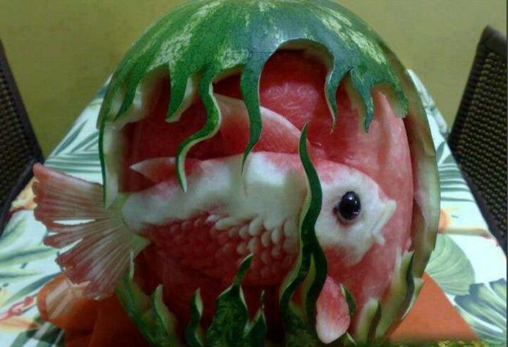 Fish Craving in a Watermelon