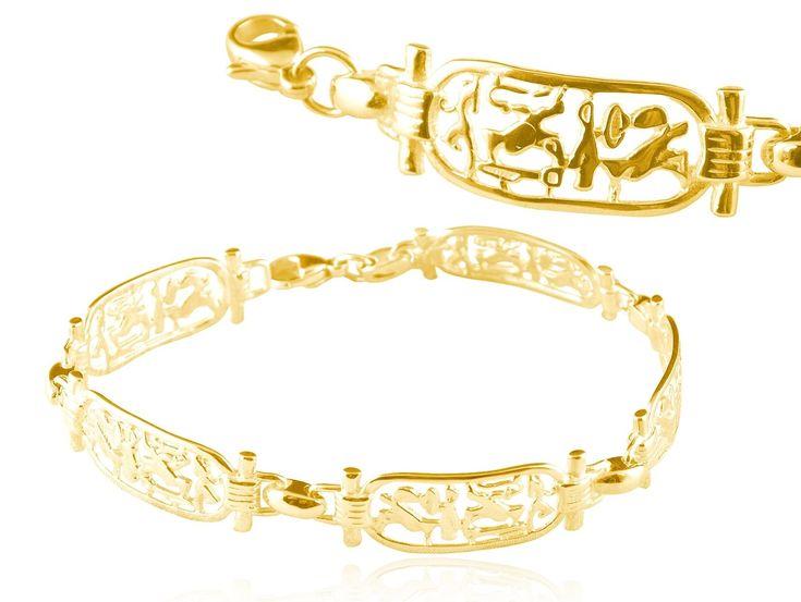 Bijoux Egyptiens Bracelet cartouches Or