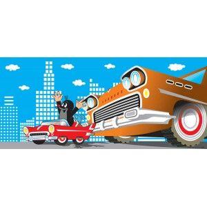 Kisvakond és autó poszter (202 cm x 90 cm)
