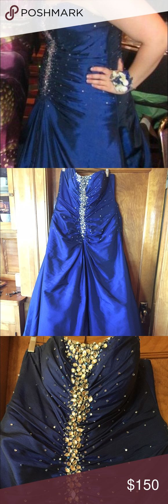 The dress for sale -  Beautiful Plus Size Mermaid Prom Dress Plus Size Strapless Mermaid Prom Dress For Sale