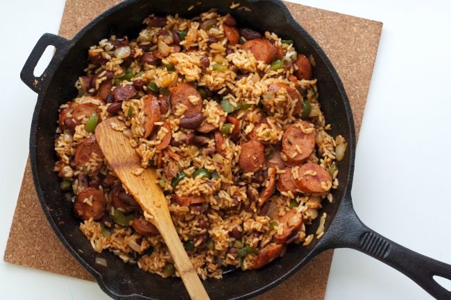 creole skillet with andouille sausage - just make sure the sausage ...