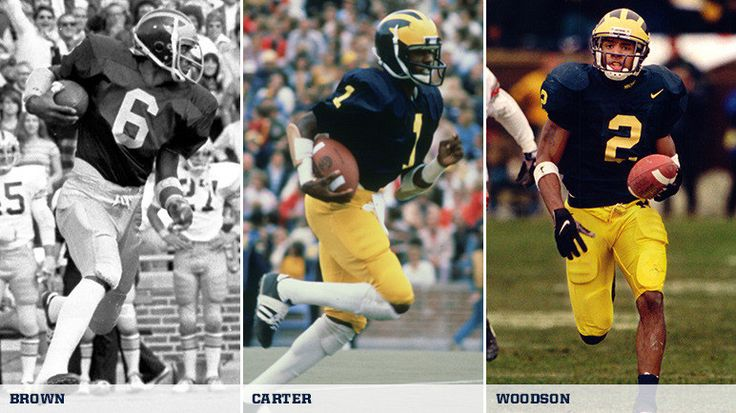 The Football Writers Association of America (FWAA) announced its 75th Anniversary All-America Team today (Thursday, Aug. 20), and the team includes three former U-M players: defensive backs Charles Woodson (1995-97; 1st Team Defense) and Dave Brown...