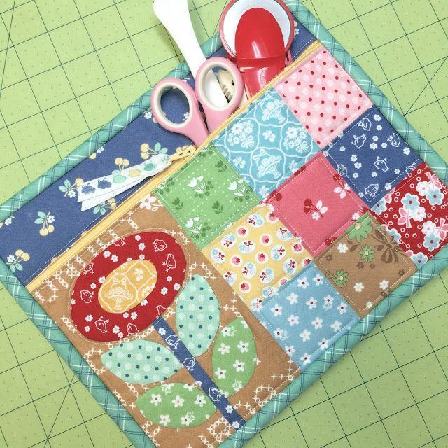 New Tutorial - Quilty Zip Bag - Easiest Zipper Ever! | Bee In My Bonnet | Bloglovin'