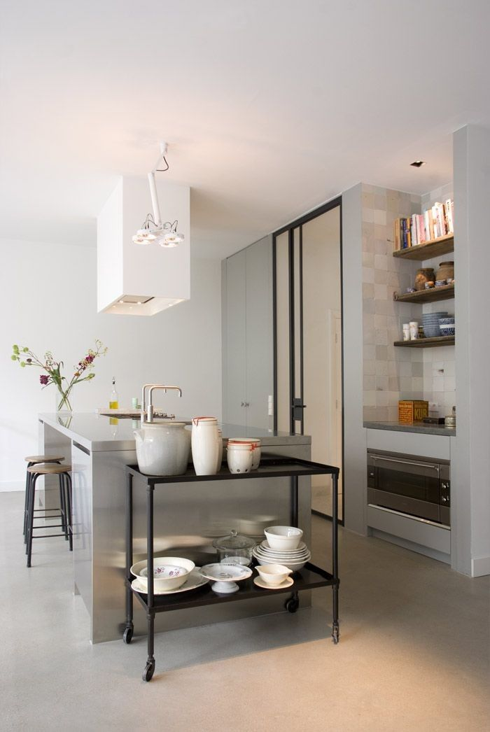 """Lodder describes the aesthetic of his kitchens as """"sober luxury."""" The company partners with high-end appliance manufacturers like Viking, Siemens, and Gaggenau. Lodder Keukens"""