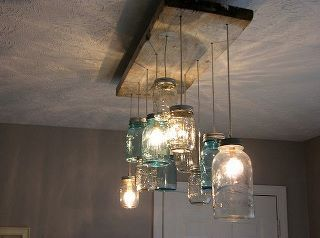 This is so pretty with the jars and the repurposed barn wood. so easy to assemble I imagine too.