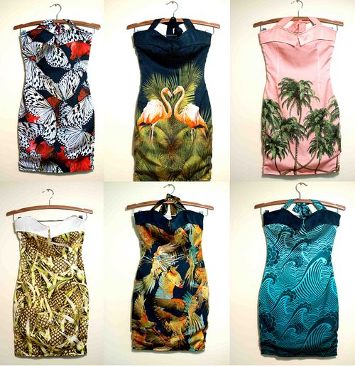 Unworn dresses prepared for Amy Winehouse's final tour. They are all fantastic!