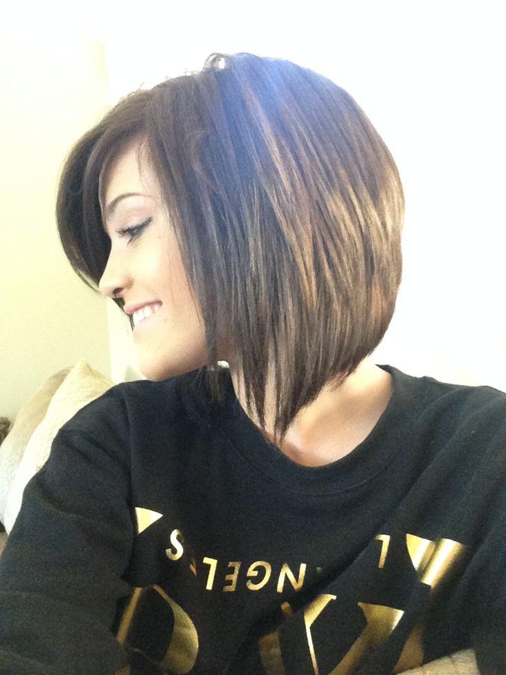 Bayleigh's medium length angled haircut....Love!!!