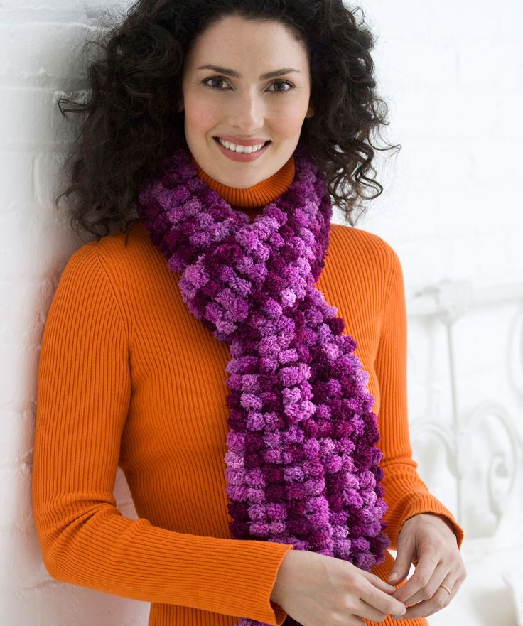 2 Ball Scarf,,,,,,Red Heart free pattern / easy knit (2 ...