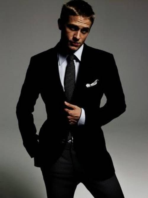 Charlie Hunnam. Nothin better than a bad boy in a suit