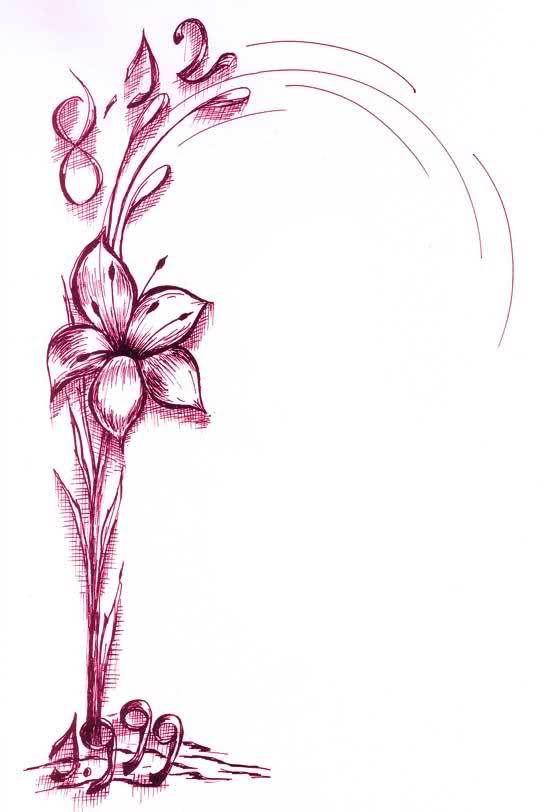 Borde para hojas XV años - Imagui