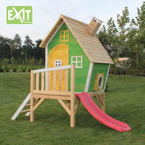 Exit Fantasia 300 leikkimökki on tyylikkään näköinen kokonaisuus jossa lasten on mukava leikkiä! Leikkimökissä on oma terassi sekä hauska liukumäki! Tutustu!