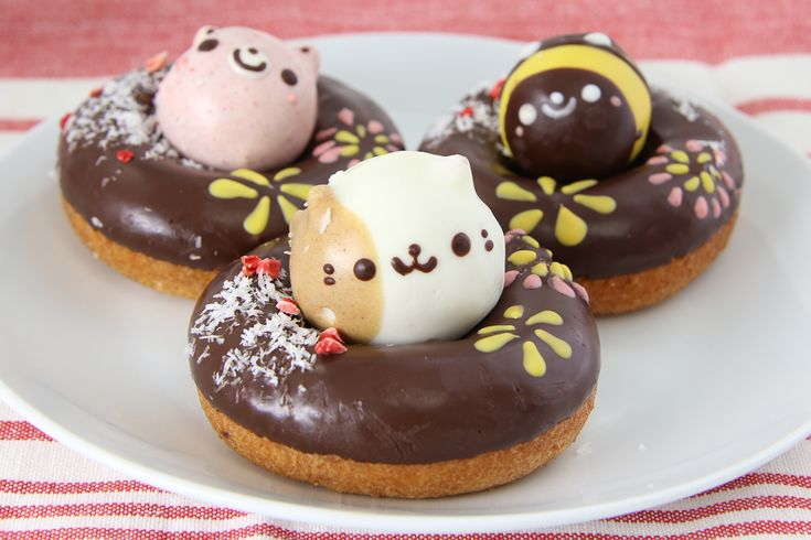 Cute cat donuts