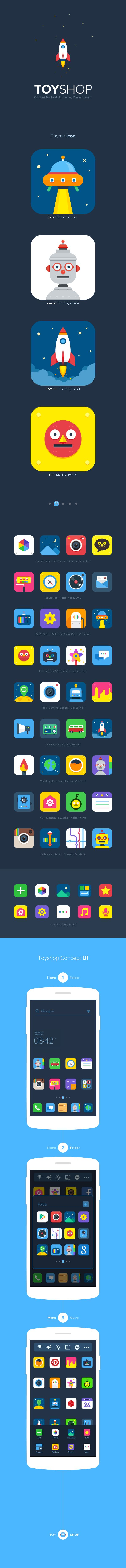ToyShop by DongGeun Lee, via Behance