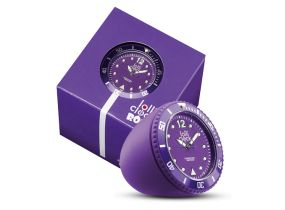 Lolliclock Rock Purple. The ultimate desk accessory or gift. 44mm, ABS Polycarbonite case + PC Rock backcover, 1ATM, PC21S movement. Buy online at www.lolliclock.com.au