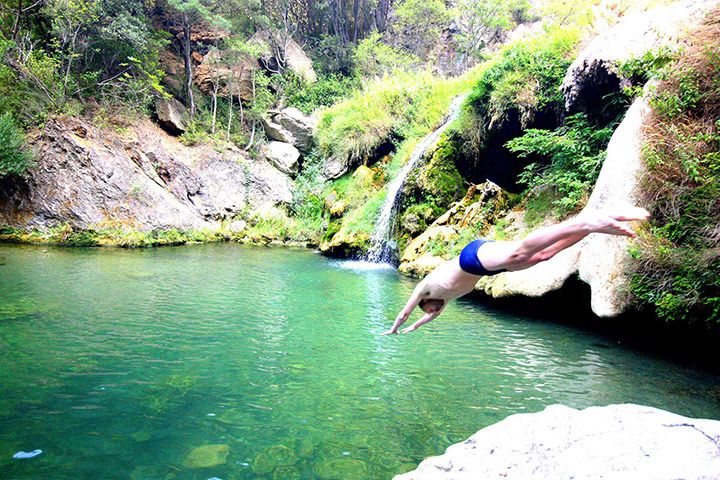 In the Corbières region south of Narbonne ruined hilltop Cathar castles overlook a wild rugged landscape. Hidden within are beautiful waterfalls and gorges, such as these at Termes by Daniel Start  guardian.co.uk,