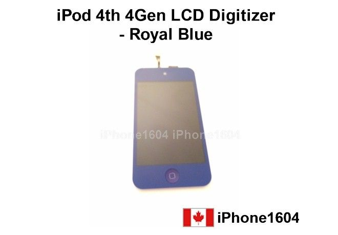 Royal Blue Apple iPod Touch 4 4G Touch Digitizer LCD Assembly with Home Button Price= $52.50