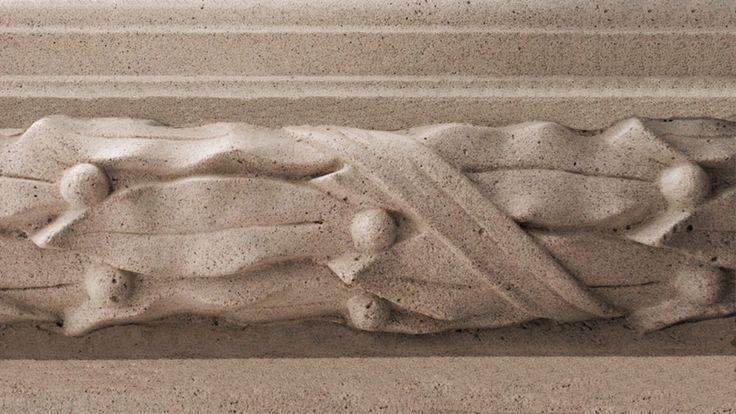 Cтеклофибробетон с фактурой камня.