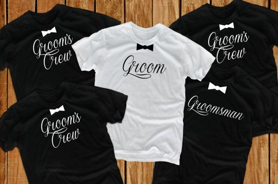 Groom t shirts (5) Bachelor Party groomsmen gift for groom from bride groom to be father of the groom gift