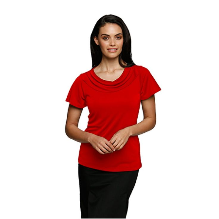 City Collection Eva Cowl Flutter Sleeve Top – 2227