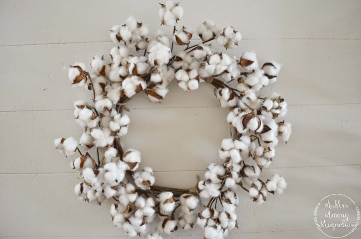 A Mrs Among Magnolias: Cotton Wreath Tutorial