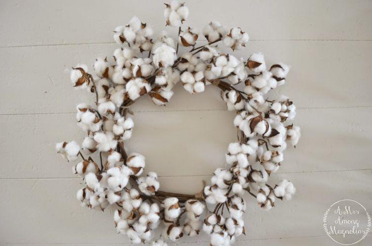 A Mrs Among Magnolias: Cotton Wreath Tutorial