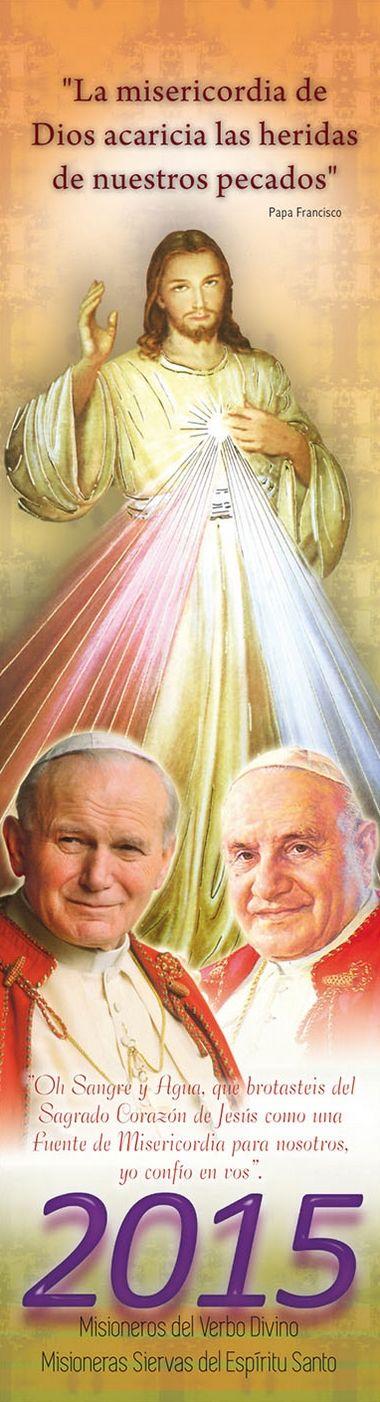 Librería San José » Almanaque 2015 – Jesús Misericordioso, junto a los santos Juan Pablo II y Juan XXIII