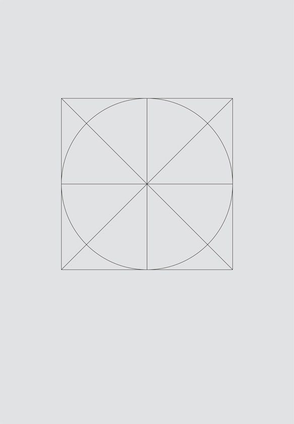 Michal Krasnopolski, Grid Movie Posters. The basic concept was to create a very modernist, minimalist poster series for movie enthusiasts. The idea is based on a very simple grid: a circle and two diagonals inscribed in a square. It surprised me how many posters I could create based on this very simple approach; the possibilities are theoretically unlimited.