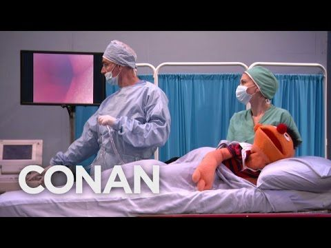 CONAN (TBS, November 13, 2014) ~ Sesame Street turned 45 this week, so Ernie got his first colonoscopy. The sedated puppet chatted with Conan O'Brien during the hilarious procedure. (2:15) [Video]