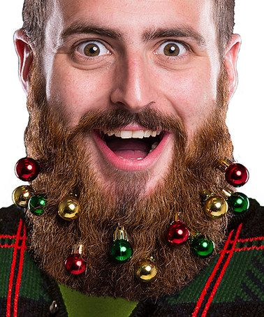 For Charlie...Loving this Red & Green Beard Ornament Clip - Set of Ten on #zulily! #zulilyfinds
