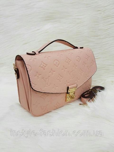 Модная сумка через плечо Louis Vuitton Луи Виттон розовая, фото 1