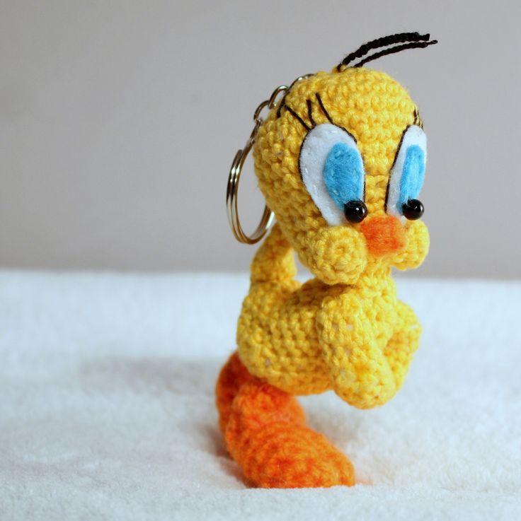 Tweety  #amigurumi #amigurumis #tweety #bird #szydełkowy #crochet #brelok #sweet #yellow #loonleytoons #cartoon