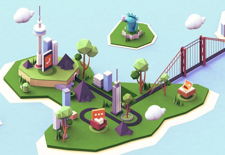 low poly 3d isometric - Google Search