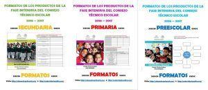Formatos de los productos de la fase intensiva del consejo técnico escolar 2016 – 2017 preescolar, primaria y secundaria