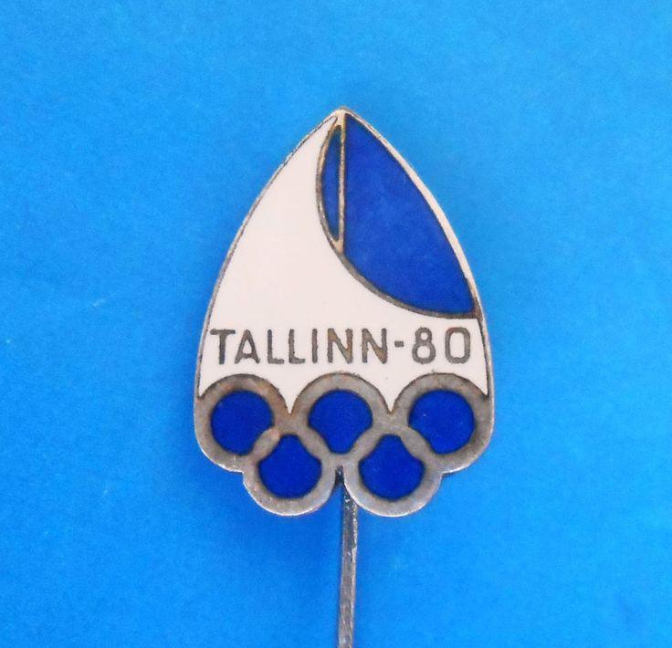 OLYMPIC GAMES 1980. MOSCOW - SAILING Tallinn Estonia - vintage enamel pin badge