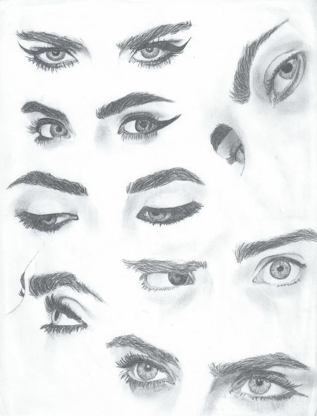 Drawing of cara deleving eye eyebrows drawings for Drawing eyebrows on paper