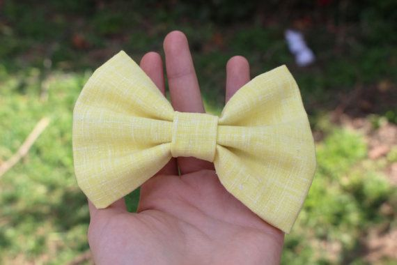 Yellow Bow, Hair Bow for teens, hair bows, lace bows, lace hair bows on Etsy, $4.00