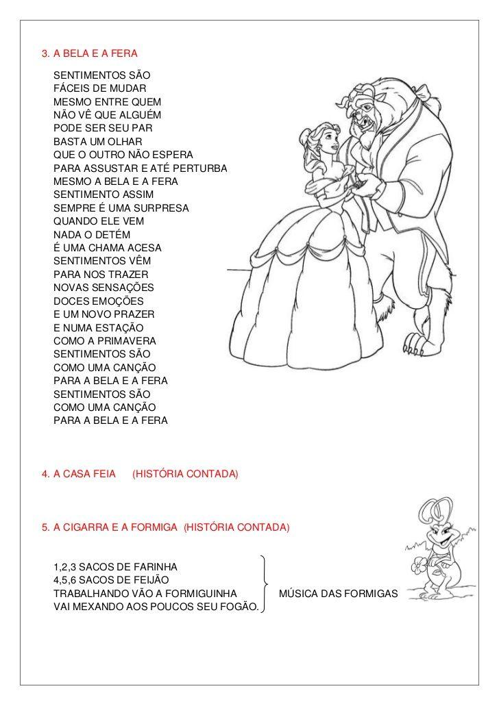 Amado As 173 melhores imagens em letras de músicas infantil no Pinterest  UZ37
