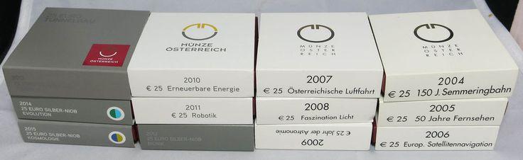 25 Euro NIOB Silber 2004-2015 Österreich Hgh in OVP