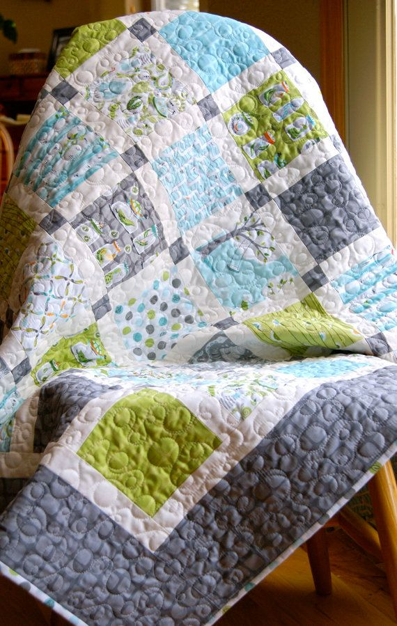 Quilt Baby Backyard Bug Hunt Lap Throw Handmade