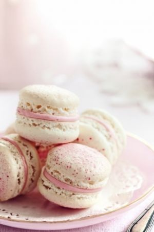 Luscious macarons. I wish I could make these but I find them so tricky. I'll get them right one day!