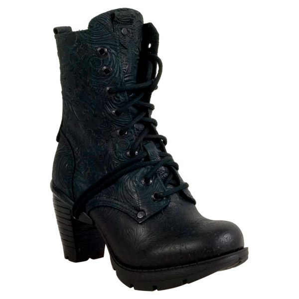 New Rock M-TR001X-S2 Women's Knee-High Boot · Lace Up BootsBlack ...