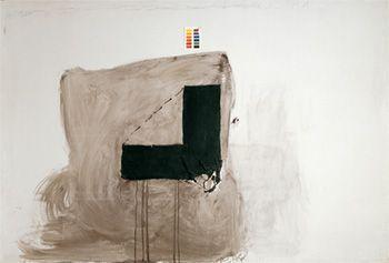 A la memòria de Salvador Puig Antich, 1974 A la memoria de Salvador Puig Antich Procedimiento mixto sobre tela  200 x 300 cm