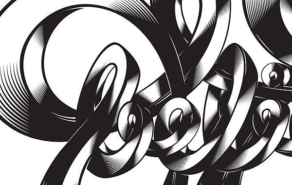 Various typo illustrations by Matija Blagojevic