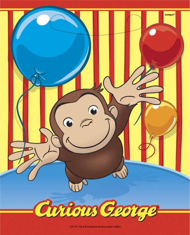 Curious George Loot Bags #YoYoBirthday: Favor Bags, Plastic Bags, Treats Bags, Birthday Parties, Parties Favors, Favors Bags, Loot Bags, George Parties, Curious George