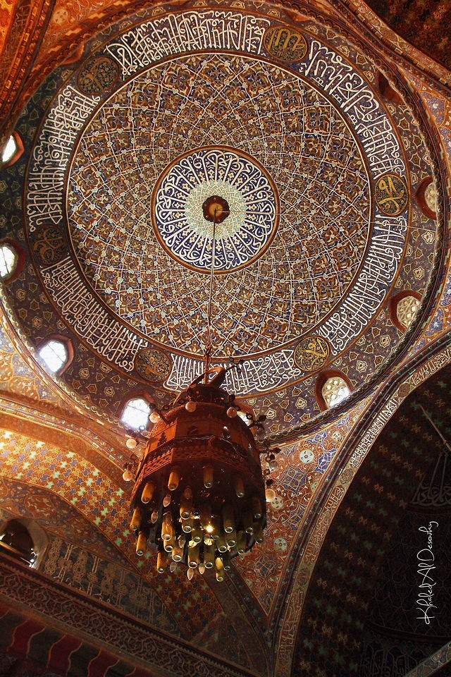 islam & art - the inside of a dome