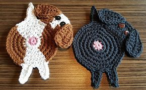 Ravelry: Peeking Dog Butt Coaster pattern by Upper Crust Crochet