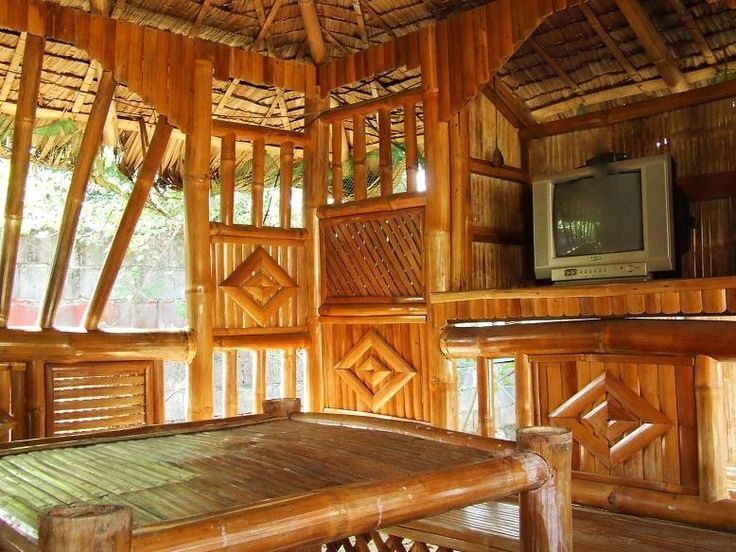 Interior Of Bamboo Bungalow Dau Mabalacat Pampanga